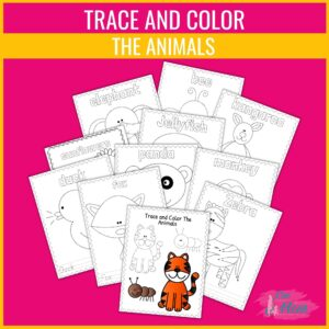trace and color the animals