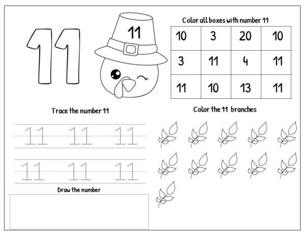 fall placemats numbers 1-20